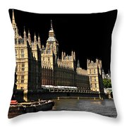 London Parliament Throw Pillow