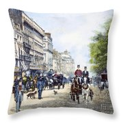 London: Piccadilly, 1895 Throw Pillow