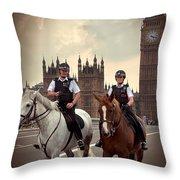 London Police Throw Pillow