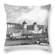 London: Prison, 1829 Throw Pillow