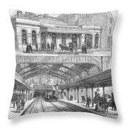 London: Railway, 1876 Throw Pillow