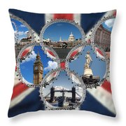 London Scenes Throw Pillow