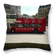 London Sightseeing Throw Pillow