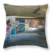 London Skatepark 2 Throw Pillow