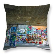 London Skatepark 3 Throw Pillow