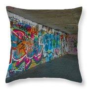 London Skatepark 5 Throw Pillow