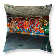 London Skatepark  Throw Pillow
