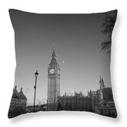 London  Skyline Big Ben Throw Pillow