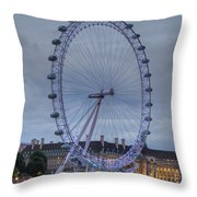 London Skyline Edf Eye Throw Pillow