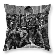 London: Soup Kitchen Throw Pillow