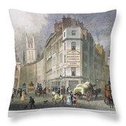 London: Street Scene, 1830 Throw Pillow