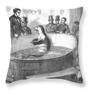 London: Talking Fish, 1859 Throw Pillow