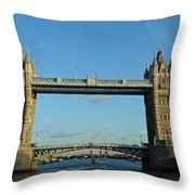 London Tower Bridge Looking Magnificent In The Setting Sun Throw Pillow