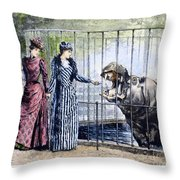 London Zoo, 1891 Throw Pillow