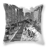 London:fleet Street Sewer Throw Pillow