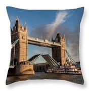 London's Burning Throw Pillow