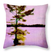 Lone Cypress Throw Pillow by Judi Bagwell