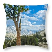 Lone Pine At Half Dome Throw Pillow