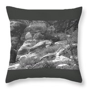 Lone Ram At Red Rock Canyon Throw Pillow