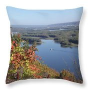 Lone River Boat Throw Pillow