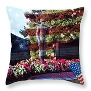 Lone Soldier Memorial Throw Pillow