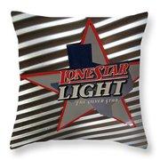 Lone Star Beer Light Throw Pillow