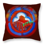 Lone Star Red Throw Pillow
