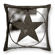 Lone Star Throw Pillow