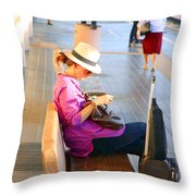Lone Traveler Throw Pillow