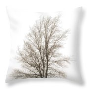 Lone Tree In The Mist Throw Pillow