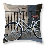 Lonely Bike Throw Pillow