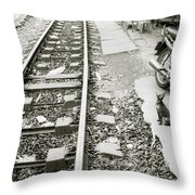 Lonely Chihuahua Throw Pillow