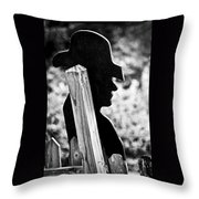 Lonely Cowboy Throw Pillow