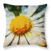 Lonely Daisy Throw Pillow