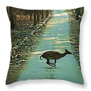 Lonely Deer Throw Pillow