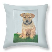 Lonely Dog Throw Pillow
