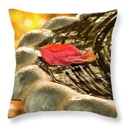 Lonely Fall Throw Pillow