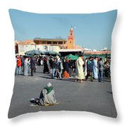Lonely In Marrakesh Throw Pillow