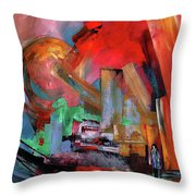 Lonely In The Big City Throw Pillow