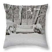 Lonely In Winter Throw Pillow
