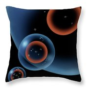 Lonely Universe Throw Pillow