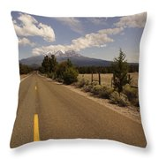 Lonesome Hiway To Shasta Throw Pillow