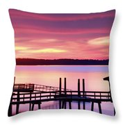 Long After Sunset Throw Pillow