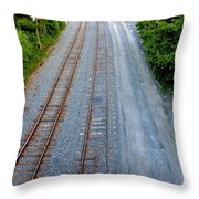 Long And To The Left Throw Pillow