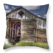 Long Barn Throw Pillow