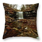 Long Canyon Waterfall Throw Pillow