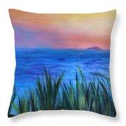 Long Island Sound Sunset Throw Pillow