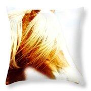 Long Mane Dreamy Throw Pillow
