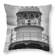 Long Point Lighthouse - Black And White Throw Pillow