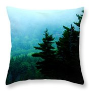 Long Pond Silhouettes Throw Pillow
